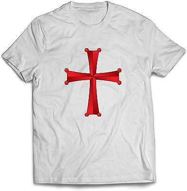 lepni.me Camisetas Hombre Orden del Templo de Salomón - La Cruz Roja de los Caballeros Templarios: Amazon.es: Ropa y accesorios