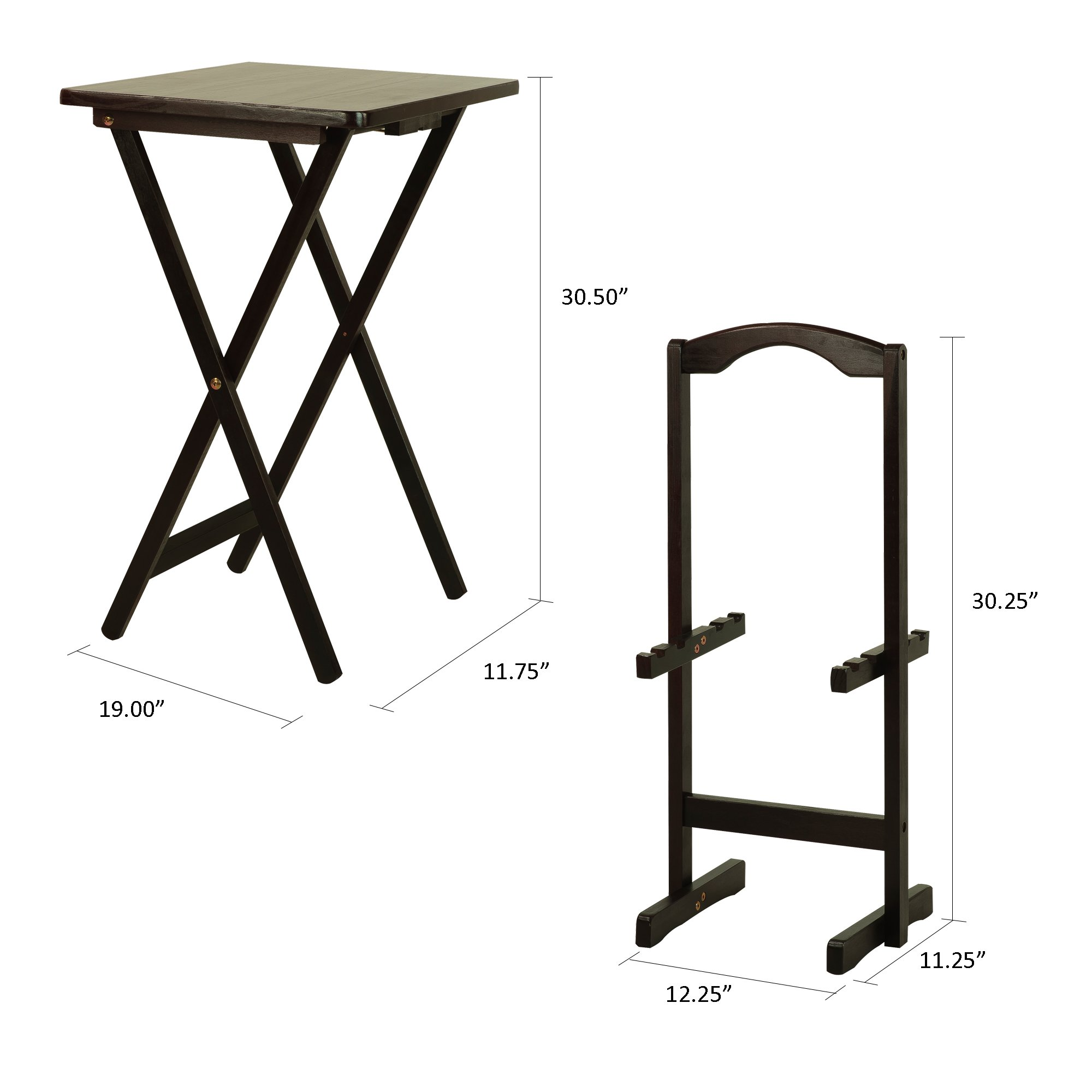 Casual Home 660-44 5-piece Tray Table Set-Espresso by Casual Home (Image #8)