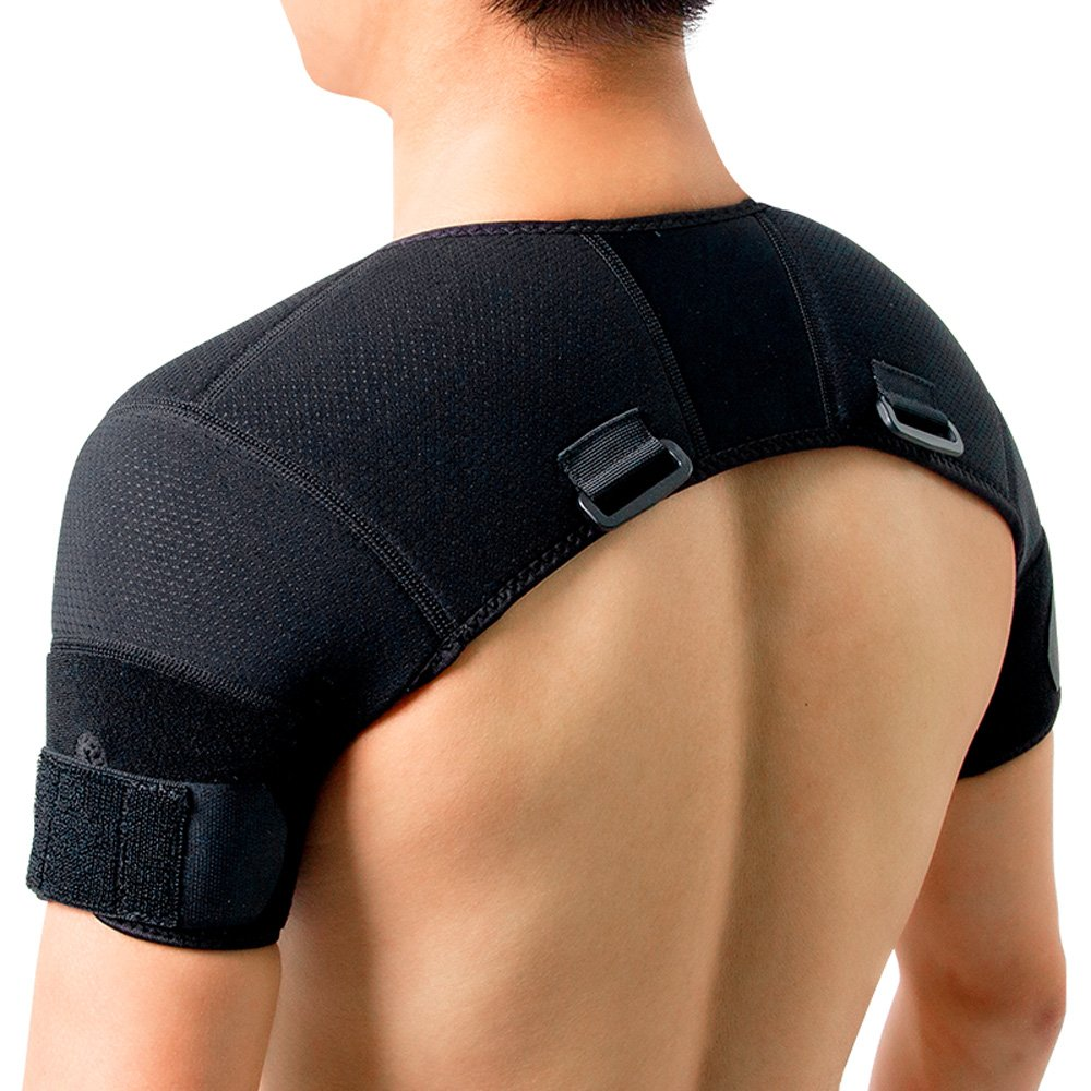 11dac222ca Amazon.com: Kuangmi Double Shoulder Support Brace Strap Wrap Neoprene  Protector (Small): Health & Personal Care