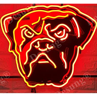 Desung 20 x16  Cleveland Sports Team Brown Neon Sign Light (MultipleSizes) HD Vivid Printing Tech Handmade Man Cave Beer Bar Pub Lamp VD10