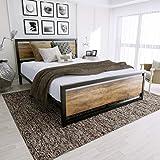 Amazon Com Ikea Hopen Queen Bed Frame Black Brown