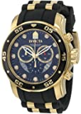 腕時計 Invicta Men's 6981 Pro Diver Collection Chronograph Black Dial Black Polyurethane Watch【並行輸入品】