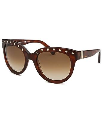 6889711ddfdd Valentino Studded Cateye Sunglasses in Blonde Havana V659S 725 54  Amazon.co.uk   Clothing