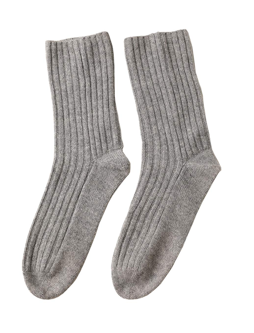 Three Cashmere Ladies 100% Cashmere Socks Pure Cashmere Socks for Women Soft Skin-Friendly Home Winter Warm Natural Fiber Cashmere 1 Pairs by Gongxue