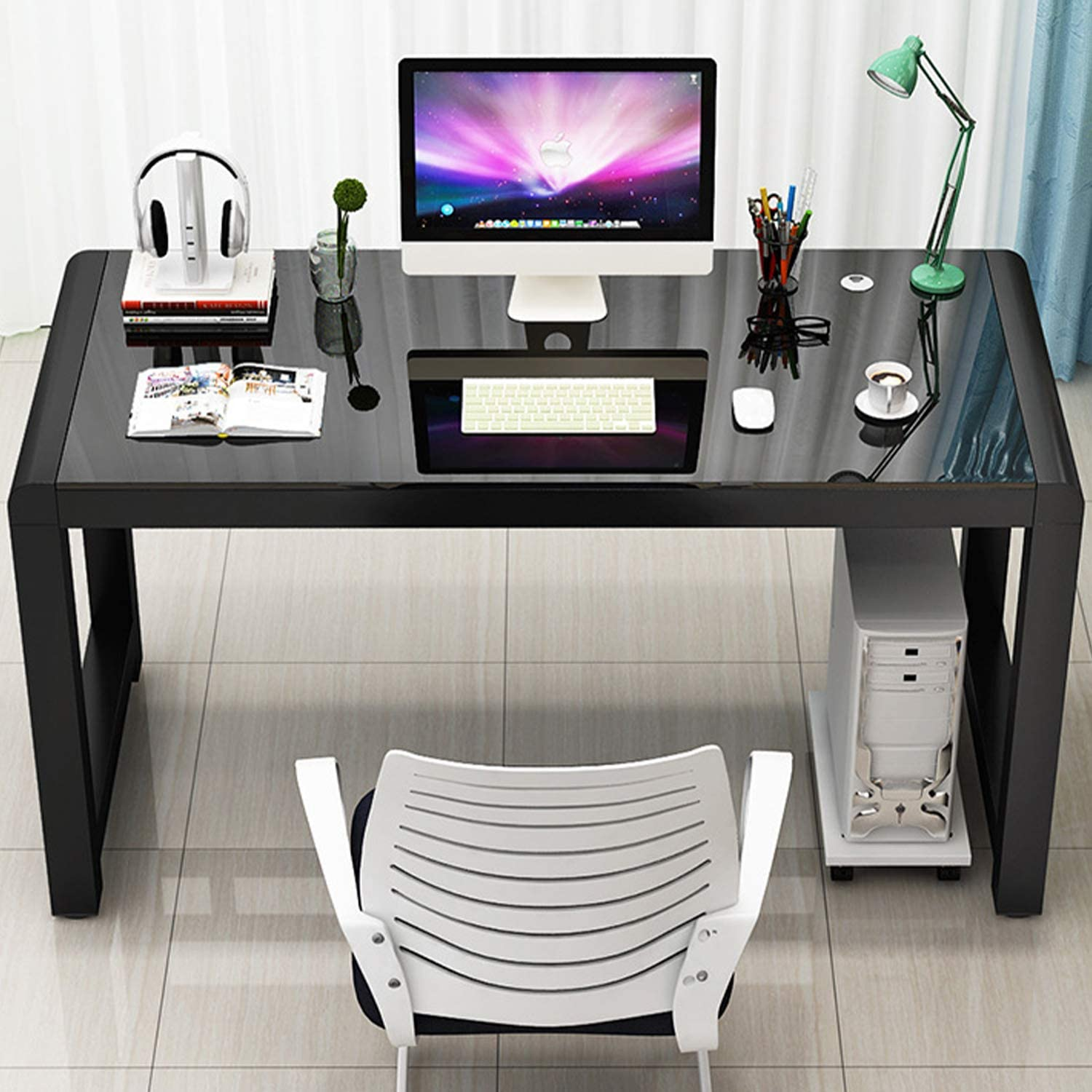 - Amazon.com: Jerry & Maggie - Tempered Glass Computer Desk Strength