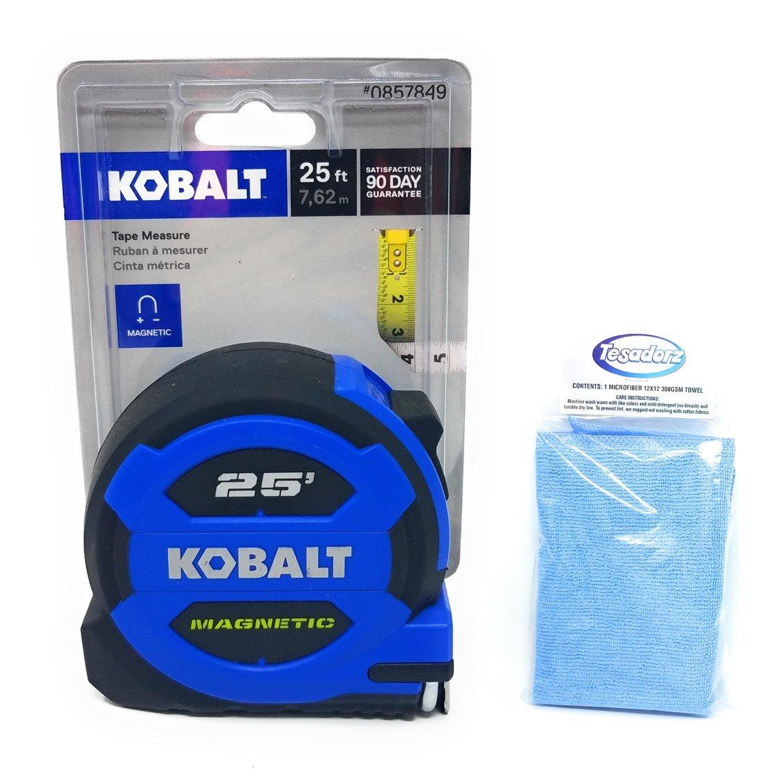 Kobalt 25' Magnetic Tape Measure and Tesadorz Microfiber Cloth