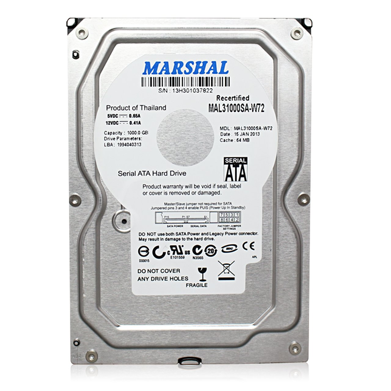 (お得な特別割引価格) 【3TB】MARSHAL MAL33000SA-W72 2TB (3TB,7200rpm,S-ATA) (T) 3.5HDD B00JW5JMWG 5700rpm (T) 5700rpm 2TB 2TB|5700rpm (T), 榎本通商:c0081677 --- efichas.com.br