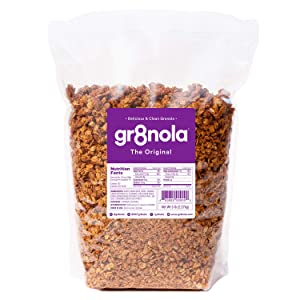 gr8nola THE ORIGINAL - Healthy, Low Sugar Bulk Granola Cereal - Made with Superfoods Whole Almonds, Honey, Cinnamon and Flaxseed, 4.5 pounds