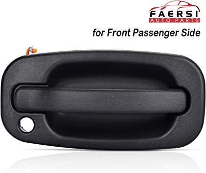 Amazon Com Faersi Outside Exterior Door Handle Front Passenger Side Fits For 1999 2000 2001 2002 2003 2004 2005 2006 2007 Silverado Tahoe Suburban Avalanche Gmc Sierra Cadillac Escalade 77262 15034986 Automotive