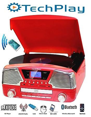 Amazon.com: techplay odc35bt Rojo con Bluetooth, 3 ...