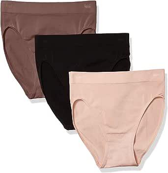 Wacoal Women's B-Smooth 3 Pre-Pack Hi-Cut Brief Pant