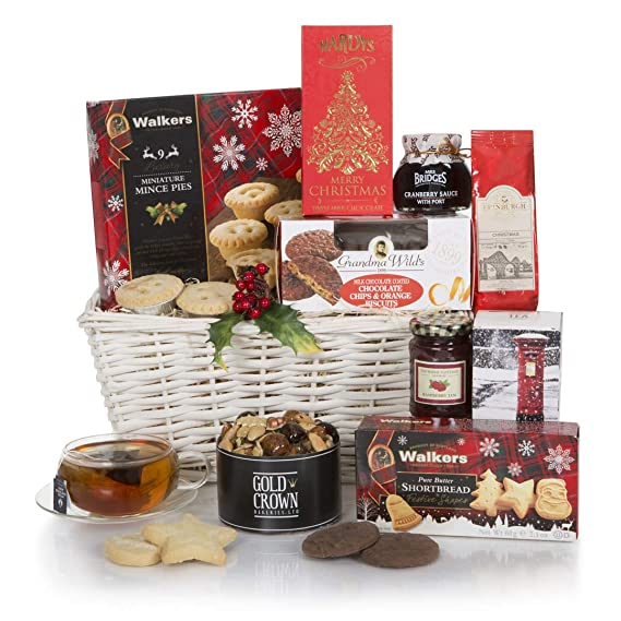 Christmas Baskets.White Christmas Hamper Xmas Hampers Festive Food Hamper Baskets Gift Baskets For Christmas