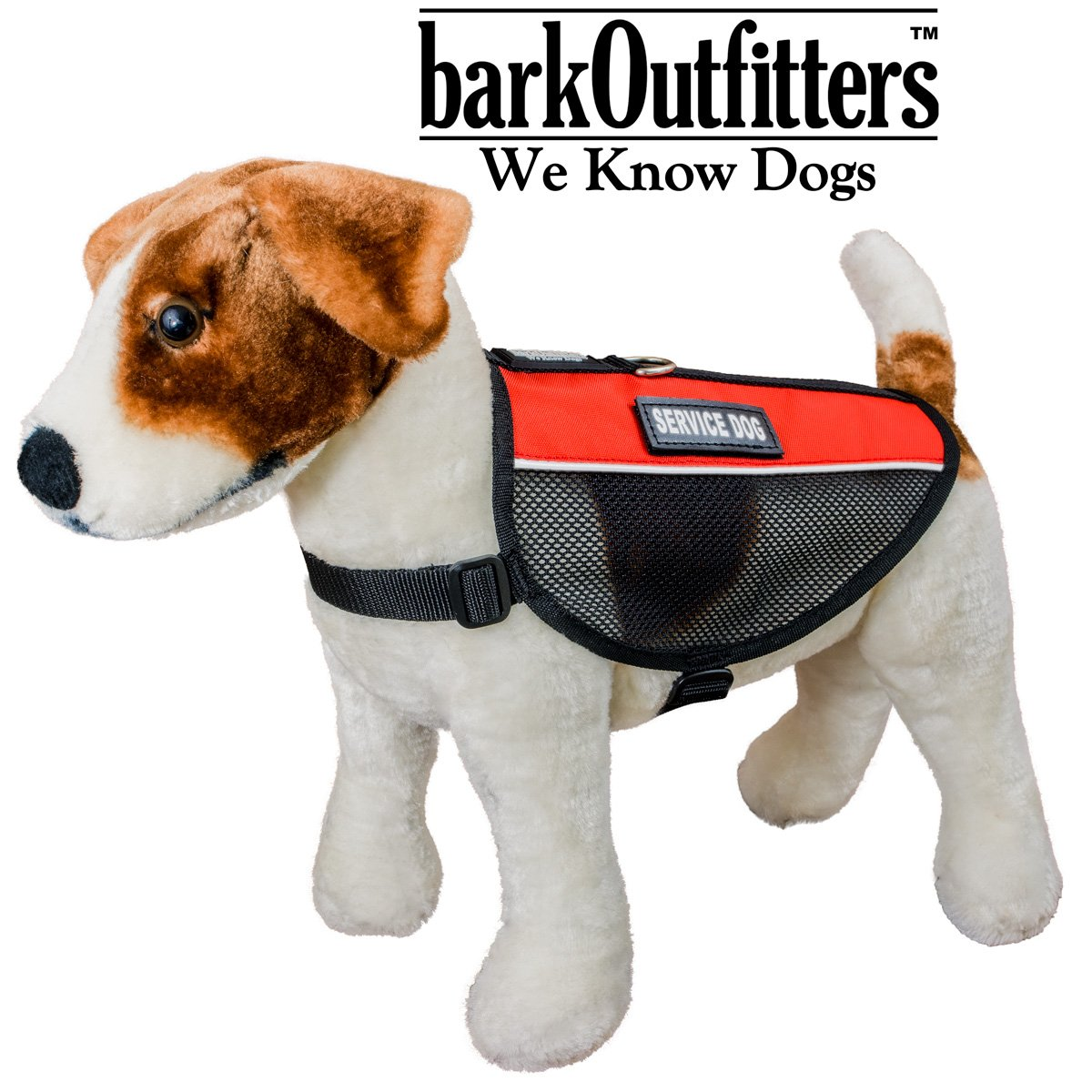 """barkOutfitters Service Dog Vest Cool Red Mesh Harness, L (17.5'' - 21"""" Girth) ) by barkOutfitters (Image #5)"""