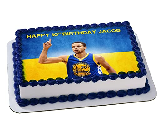 Stephen Curry Golden State Warriors NBA Birthday Cake Personalized ...