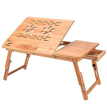 FreeQueen Mesa de escritorio multifuncional con cajones ajustables ...