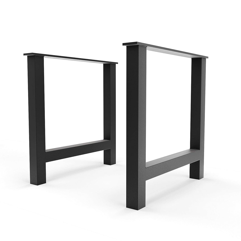 Steel Forged DIY Metal H Legs 28 h x 23 d