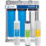 Express Water Whole House Water Filter – 3 Stage Home Water Filtration System – Sediment, Coconut Shell Carbon Filters – incl