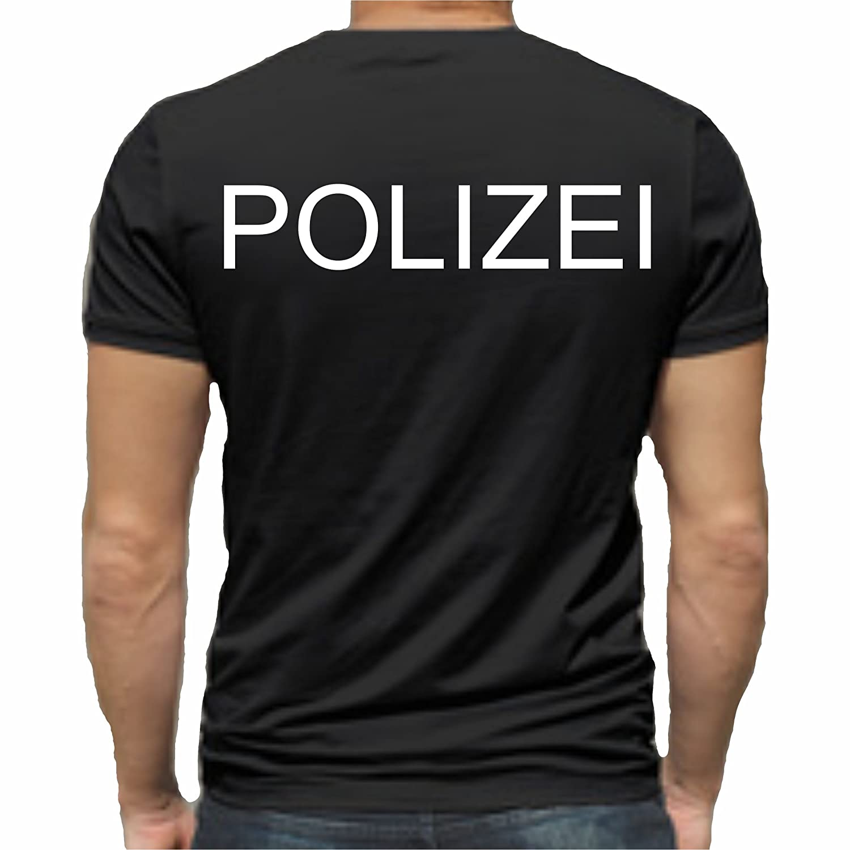 Sticker Design Shop Polizei T-Shirt Druck Unisex Baumwolle Fruit of The Loom  Neu: Amazon.de: Bekleidung