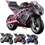 Pocket Bike Mini Motorcycle 4 Stroke Gas Power (PINK)