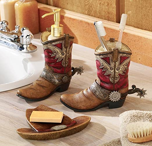 Collection Western Theme - Botas de Agua para baño: Amazon.es: Hogar