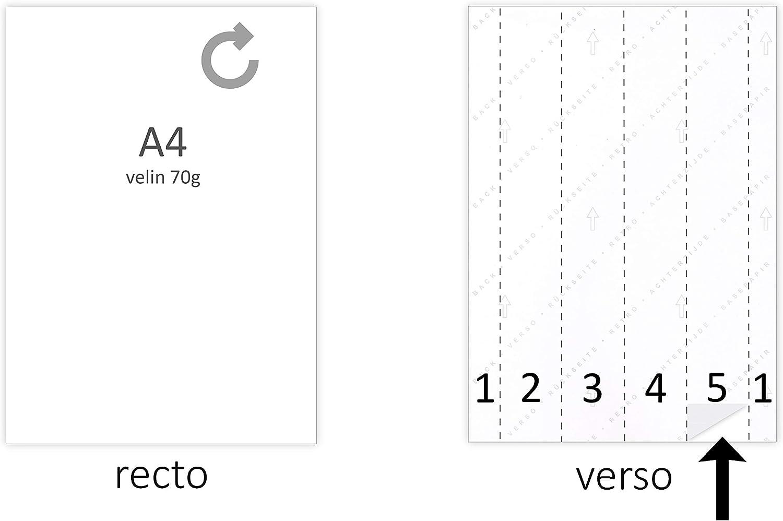 50 lámina adhesiva especial grabado etiqueta 210 x 297 para ...