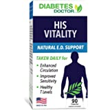 Diabetes Doctor His Vitality Men's Health Booster - Enhances Sensitivity - Improves Circulation - Boosts Strength & Drive - B