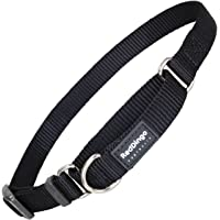 Red Dingo Classic Martingale Dog Collar, Large, Black