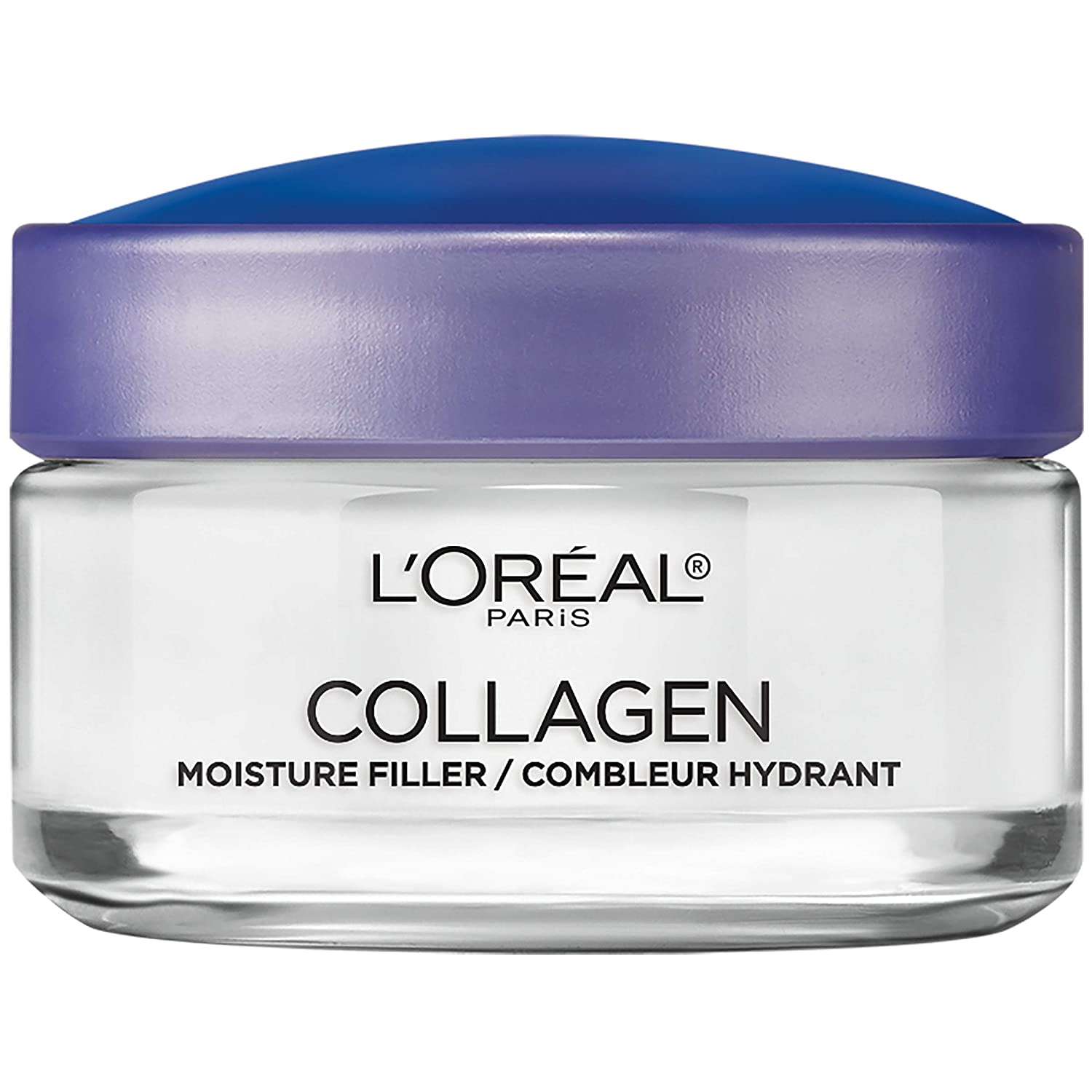 Collagen Face Moisturizer by L'Oreal Paris Skin Care Day and Night Cream Anti Aging Face Cream to Smooth Wrinkles I Non-Greasy I 1.7 oz.: Health & Personal Care