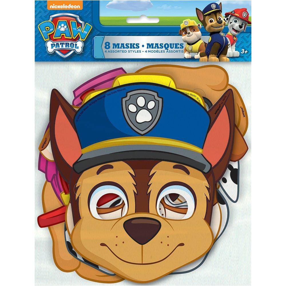 Möbel & Zubehör für die frühkindliche Bildung 8 per Package Paw Patrol Party Masks Küchenspielzeug