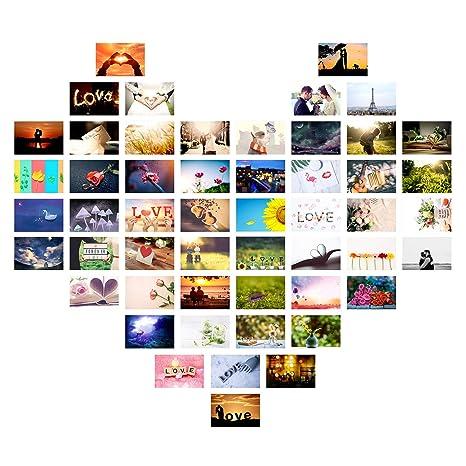 Czemo 52 Wochen Postkarten Liebe Hochzeit Set/Ein Jahr lang jede Woche eine Karte/Hochzeitsgeschenk und kreative Alternative