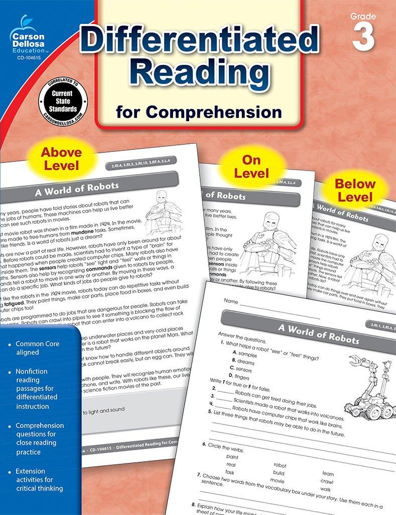 Amazon differentiated reading for comprehension grade 3 amazon differentiated reading for comprehension grade 3 0044222237240 carson dellosa publishing books fandeluxe Choice Image