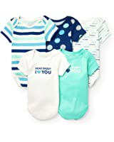 The Children's Place Baby Boy 5 Pack Bodysuits