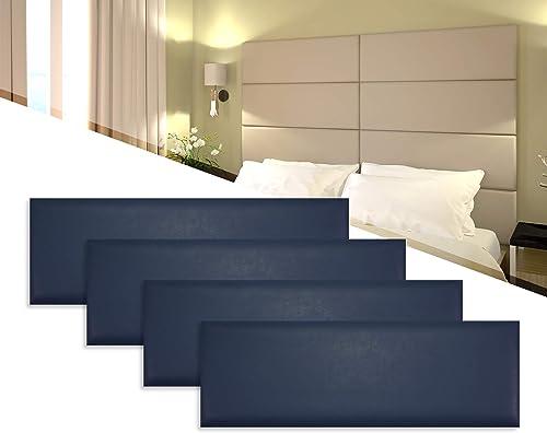 4 Pack of 12×36 Padded Upholstered Wall Panel Tiles