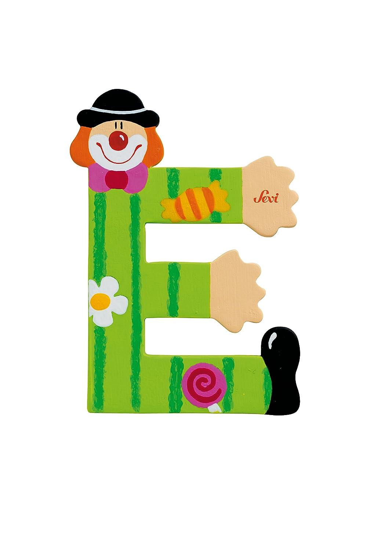 181737 Lettre D/éco Bois Lettre Clown A Trudi Sevi