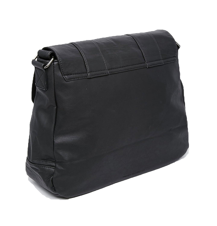 214b127bf2 French Connection Mens Messenger Bag Shoulder Strap Laptop Sleeve Black   Amazon.co.uk  Shoes   Bags