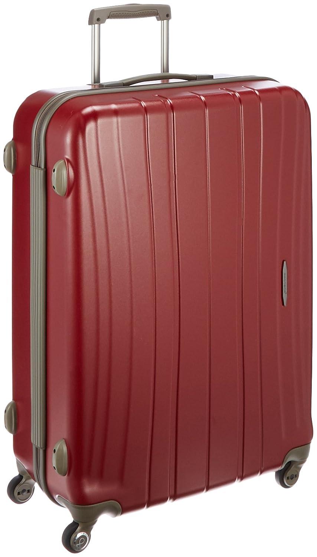 [プロテカ] 日本製スーツケース フラクティII 02665 89L 4.3kg89.0L 75cm 4.3kg 02665 B01LE8XBXOレッド