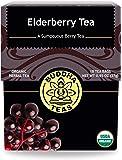 Organic Elderberry Tea, 18 Bleach-Free Tea Bags – Organic Tea Strengthens The Immune System, Supports Upper Respiratory…