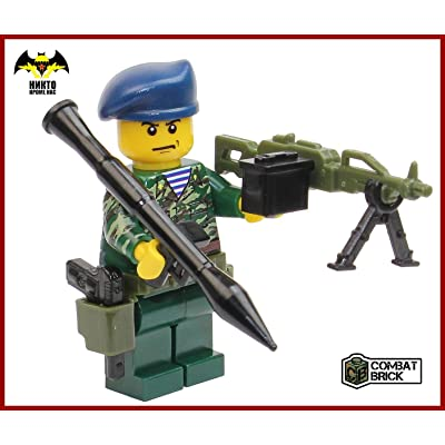 CombatBrick Premium Limited Edition Toy Soldier Minifigure - Custom Russian Army Spetsnaz Trooper: Toys & Games
