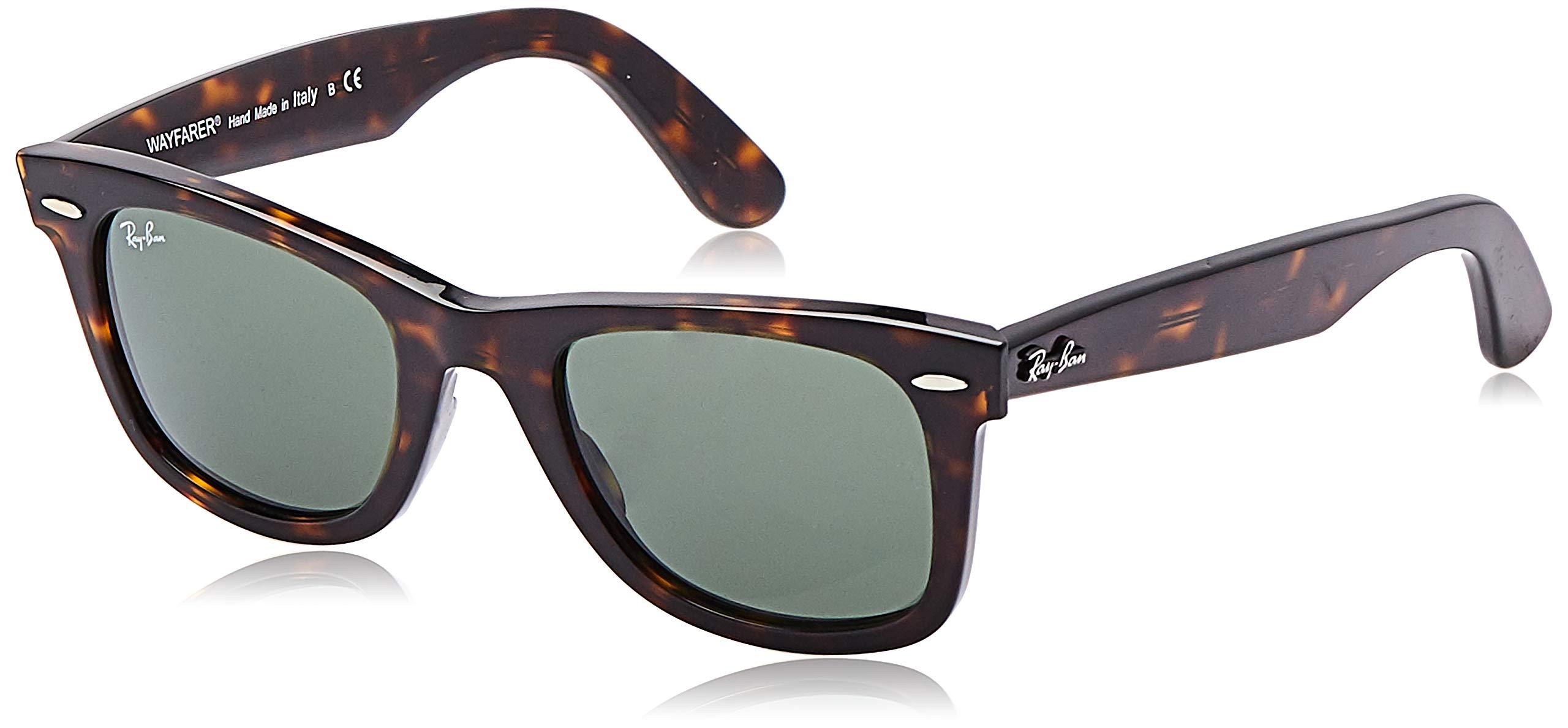 Ray-Ban RB2140 Wayfarer Sunglasses, Tortoise/Green, 50 mm by RAY-BAN