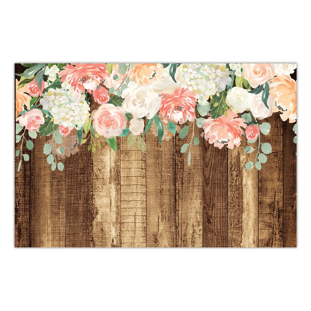 """25 Count Rustic Country Paper Place Mats Pretty Floral Blooms Engagement Graduation Parties Bridal Shower Wedding Reception Easy Cleanup Disposable Table Settings 17"""" x 11"""" DB Party Studio Placemats"""