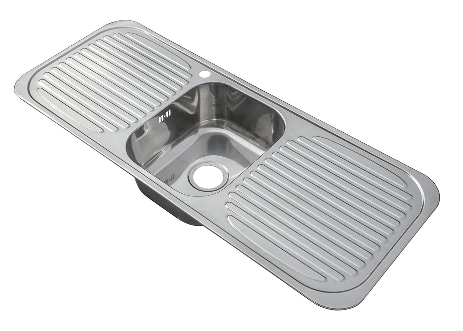Good Inset Stainless Steel Single Bowl Kitchen Sink With 2 Drainers Large (C01):  Amazon.co.uk: DIY U0026 Tools Design Inspirations