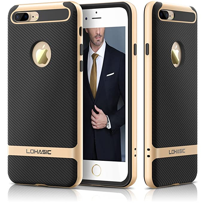 5 opinioni per Custodia iphone 7 Plus, Premium armor [doppio strato] paraurti [Cornice dura del