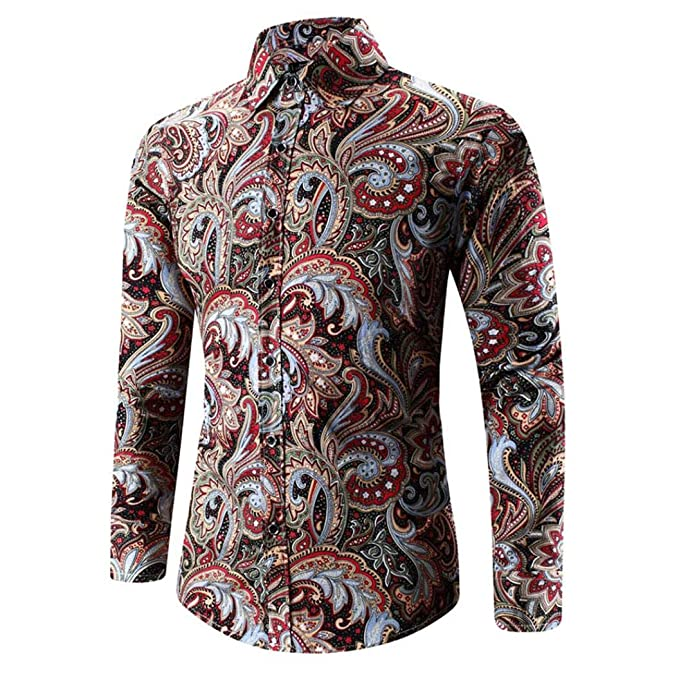 Resplend Camiseta Hawaiana para Hombre con Estampado 3D Camiseta Deportiva de Manga Larga con Blusa Top: Amazon.es: Ropa y accesorios
