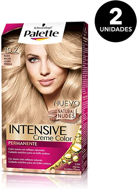 Palette Intense - Tono 10.2 Rubio Nácar - 2 uds - Coloración Permanente - Schwarzkopf