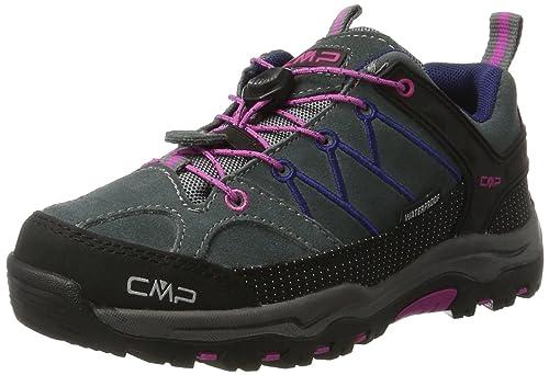 CMP Rigel, Zapatos de High Rise Senderismo Unisex Niños, Gris (Antracite-Red Fluo), 34 EU