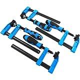 "Blue HandleF Clamps Bar Clamp Heavy Duty 150 x 50mm 6"" Long Quick Slide Wood Clamp 4pc Set"