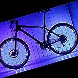 PAMASE 2 Packs Waterproof Bike Wheel Light - 20 LED Lamp Bead Strip for Bicycle Spokes and Rims