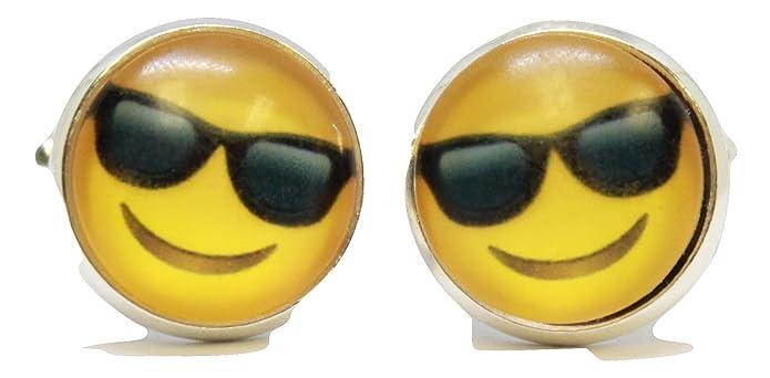 Sonriente cara con gafas de sol Emoji Gemelos: Amazon.es ...