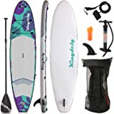 Kingdely Inflatable Stand Up Paddle Board, 10'6 x 6''x 31'', Comes with Durable SUP Accessories & Portable Carry Bag…
