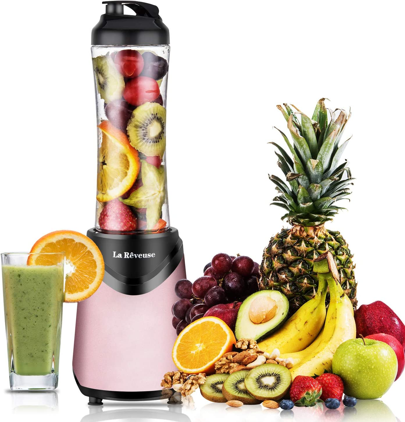 Smoothies Blender 300 Watt with 18 oz BPA Free Portable Travel Sports Bottle